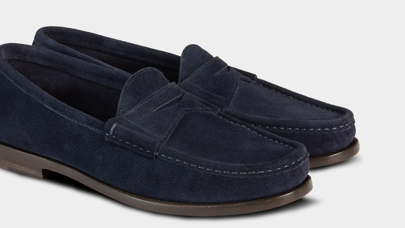 Velasca Ost Blue Suede leather