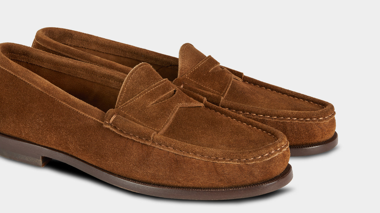 Velasca Ost Tobacco brown Suede leather