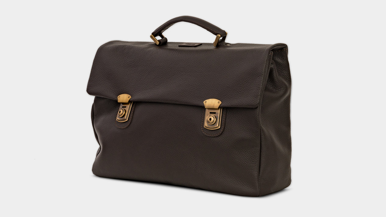 Velasca Bags Ravanà Dark brown Tumbled leather
