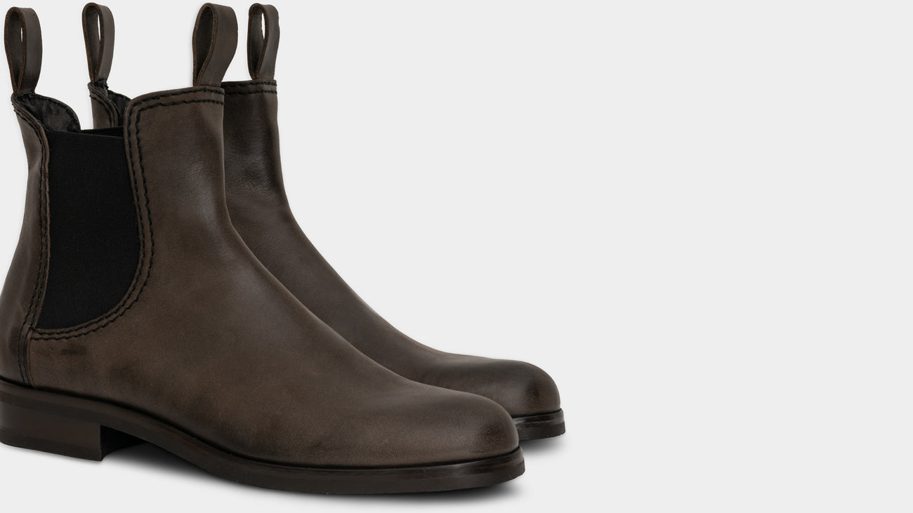 Velasca Chelsea Boots Scout Gray Rustic leather