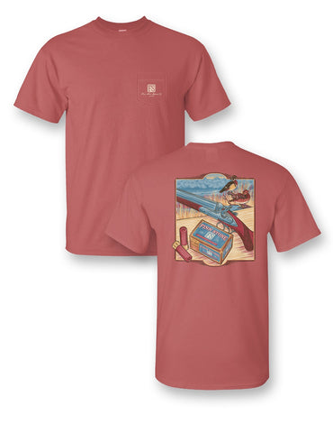 """Riverboat"" Comfort Colors Short Sleeve Pocket Tee"