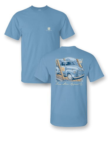 """Tractor"" Comfort Colors Pocket Tee"