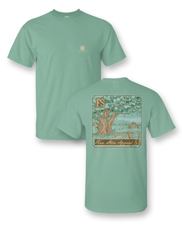 """Bait & Tackle Shop"" Comfort Colors Pocket Tee"