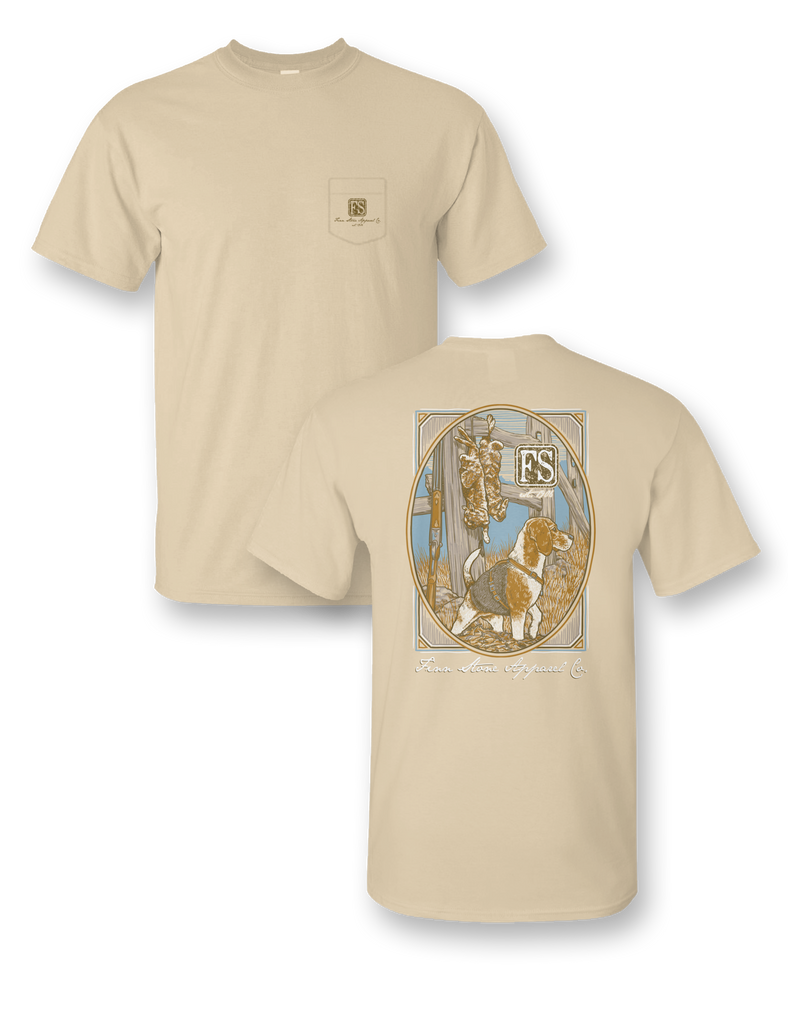 """Rabbit Dog"" Comfort Colors Short Sleeve Pocket Tee"