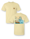 Charter Boat Comfort Colors Pocket Tee