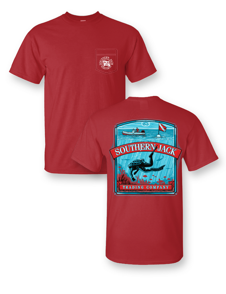 Diver Down Comfort Colors Pocket Tee