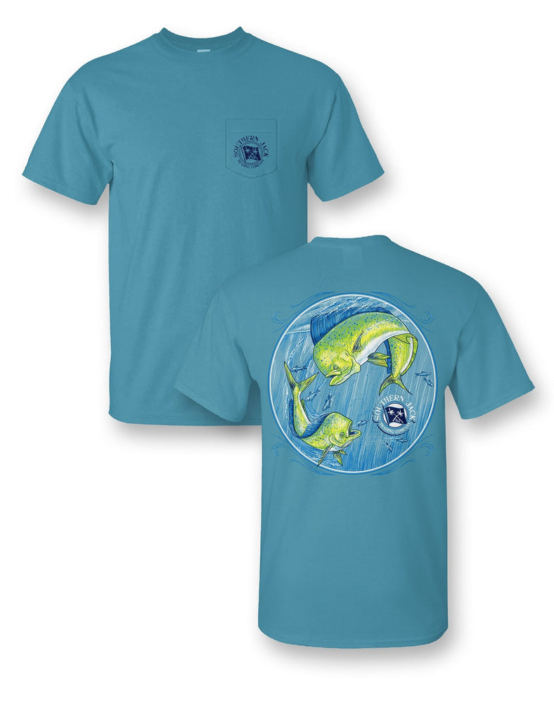 Mahi Mahi Comfort Colors Short Sleeve Pocket Tee