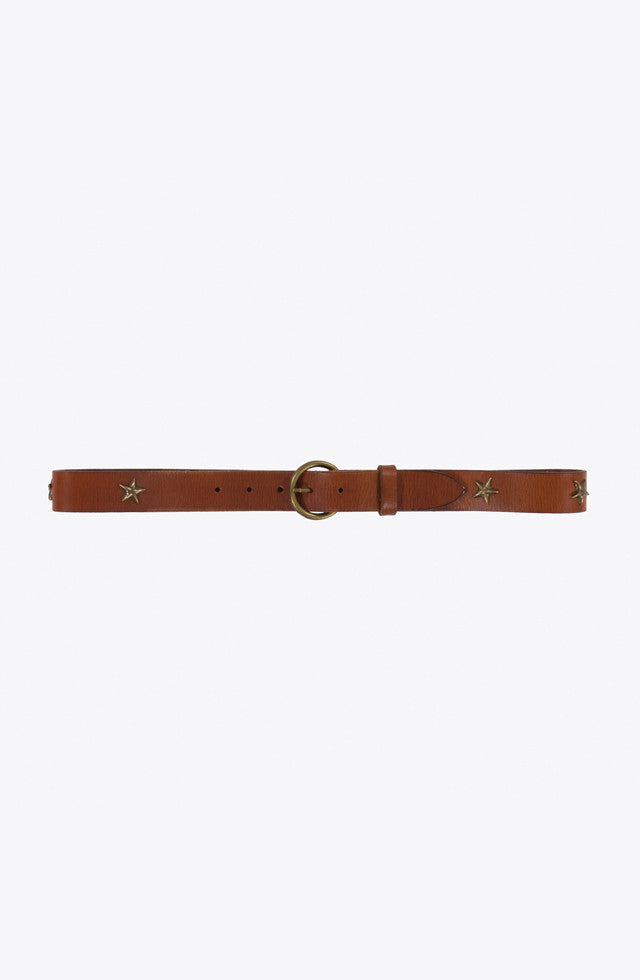 THE LEATHER STAR BELT