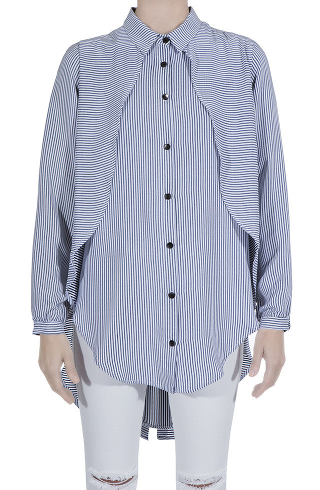 THE STRIPED LONG SHIRT