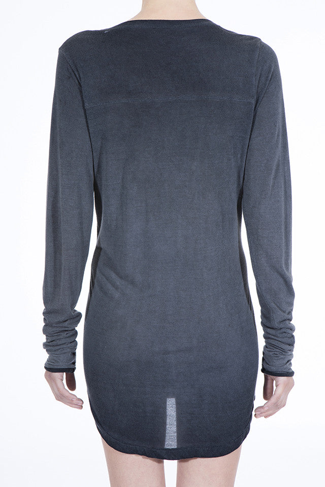 THE VINTAGE CASHMERE TEE BLK WASH