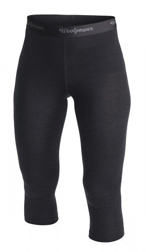 Woolpower Merino Wool LITE Women's 3/4 Long Johns - Black
