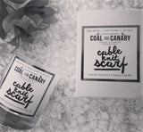 coal and canary soy candle