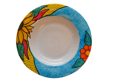 HAND DECORATED CERAMIC PLATE