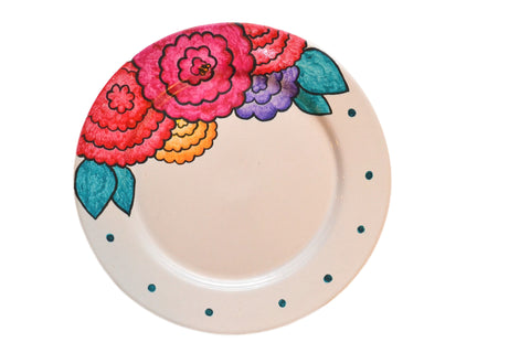 HAND DECORATED CERAMIC TRAY
