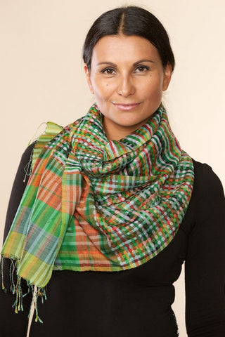Swarga Silk and Wool Scarf