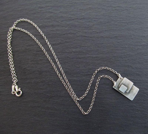 Sterling Silver Geometric Necklace