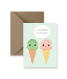 We're Mint To Be Together Greeting Card - Osadia Concept Store