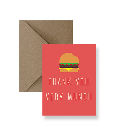 Thank You Very Munch Card