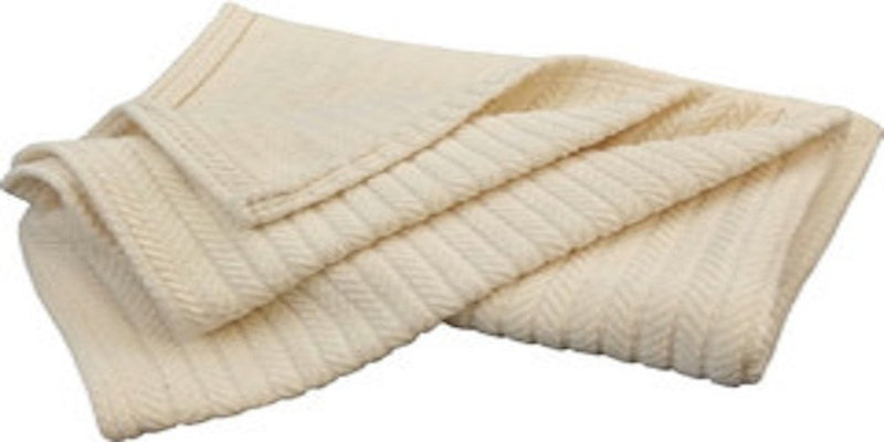Organic Cotton Striped Chenille Natural Blanket