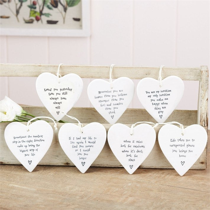 42 Piece Round Hanging Heart Porcelain