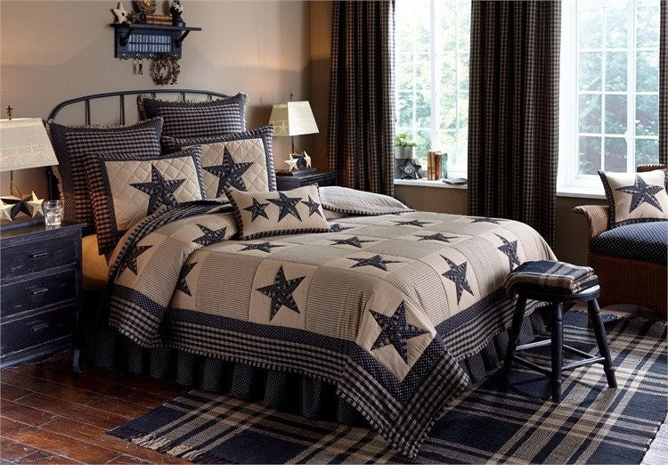 Sturbridge Patch Black Quilt Set by Park Designs