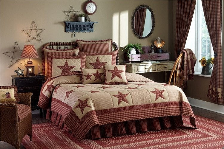 Sturbridge Patch Wine Quilt Set by Park Designs