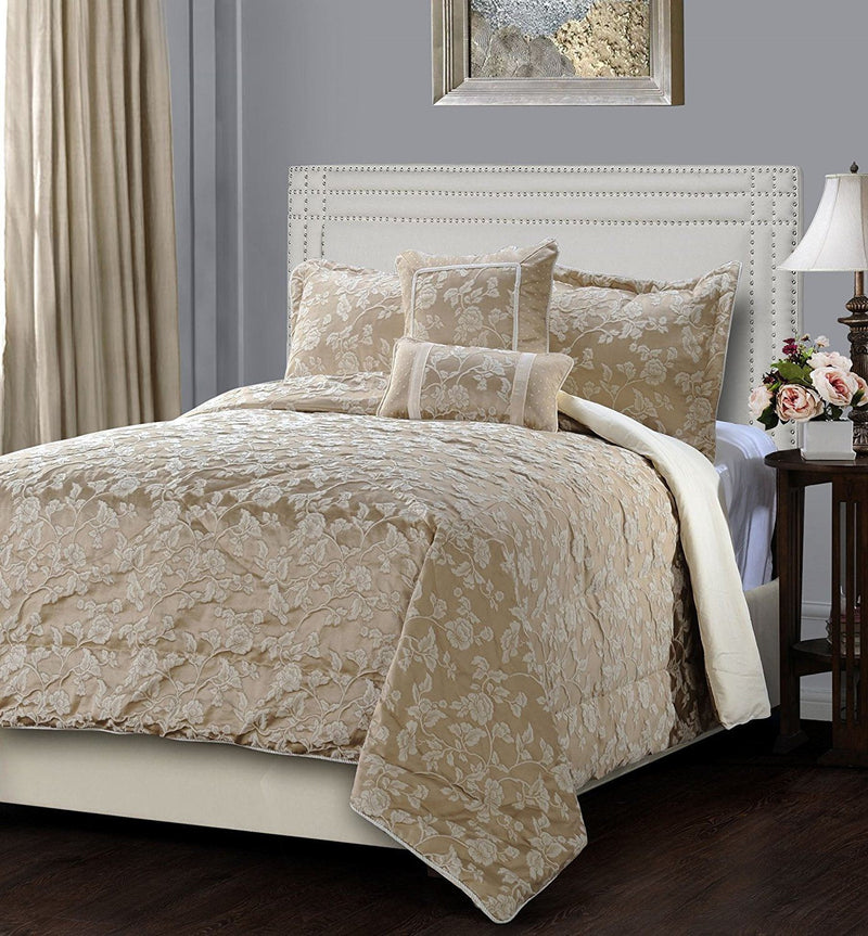 Jennifer Taylor 5 Piece Comforter Set in Neutral Color   upgrading quality.myshopify.com