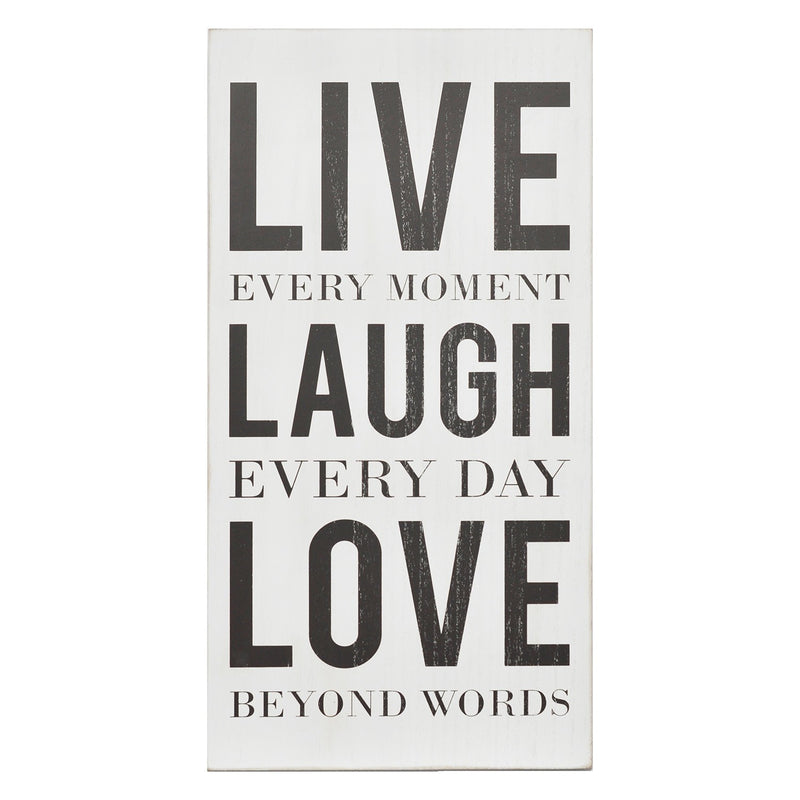 White and Black Live Laugh Love Box Wall Art by Stratton Home Decor