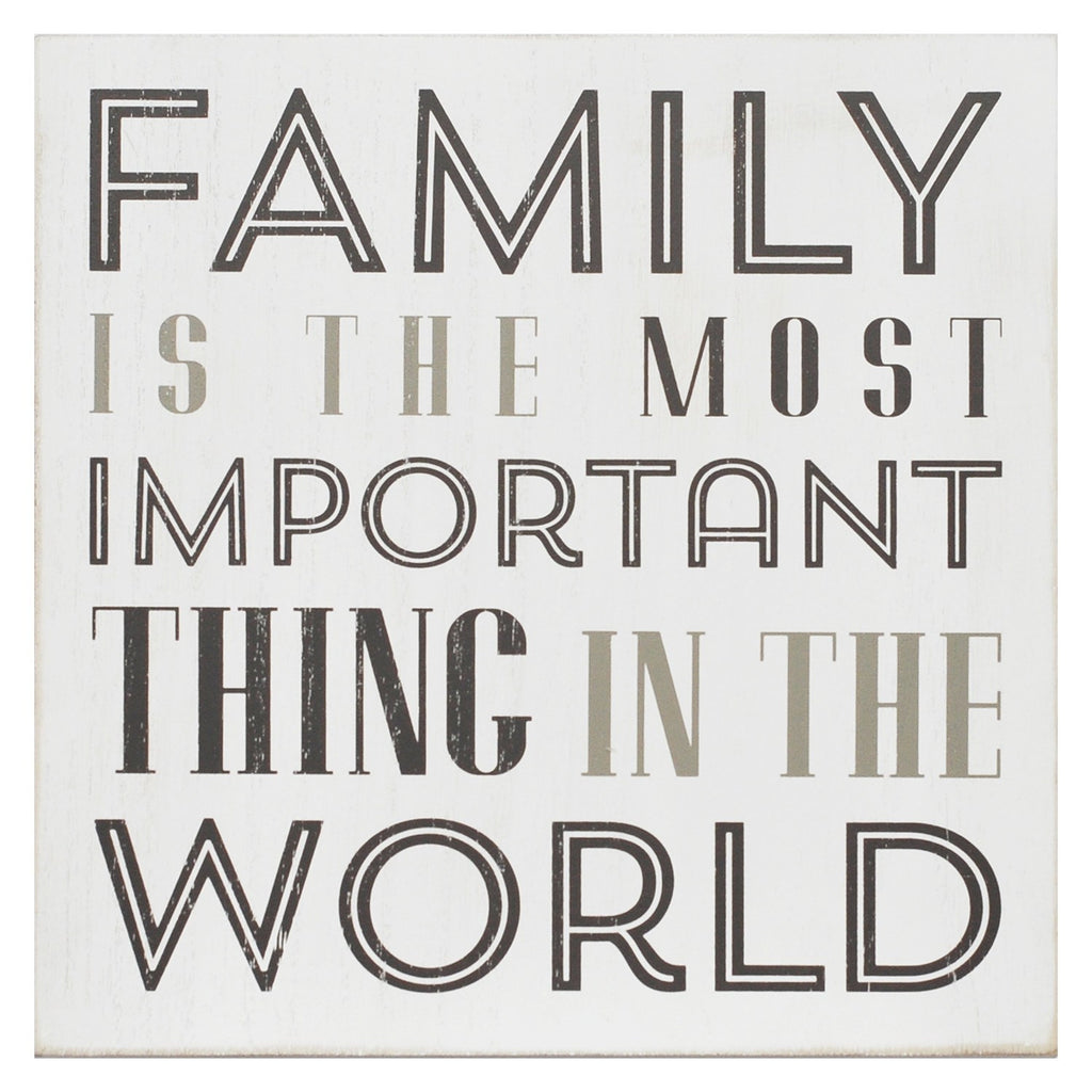 Family Is The Most Important Box Wall Art by Stratton Home Decor
