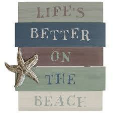 """Life's better on the beach"" Wall Art by Stratton Home Decor"