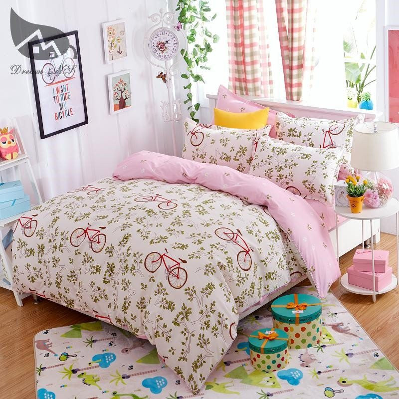 Bicycle Patterned Duvet Cover Bedding Set   Upgrading Quality
