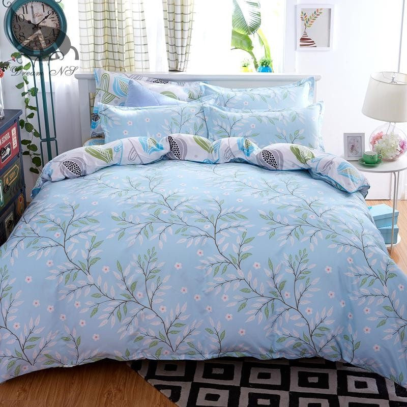 Blue Nature Leaves Style Duvet Cover Bedding Set   Upgrading Quality
