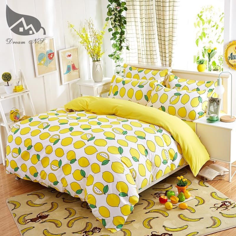 Lemon Styled Duvet Cover Bedding Set   Upgrading Quality