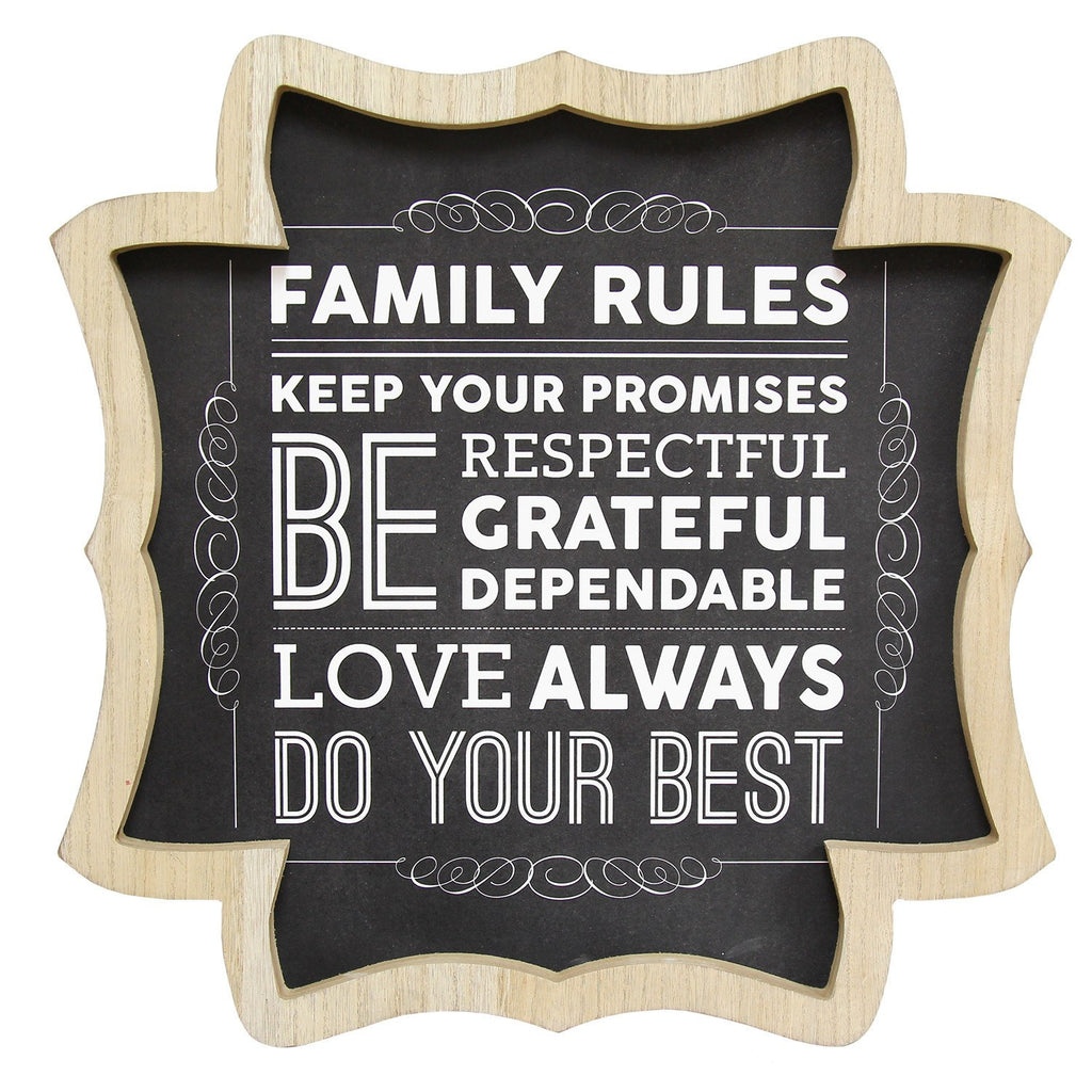 Family Rules Wall Art by Stratton Home Decor