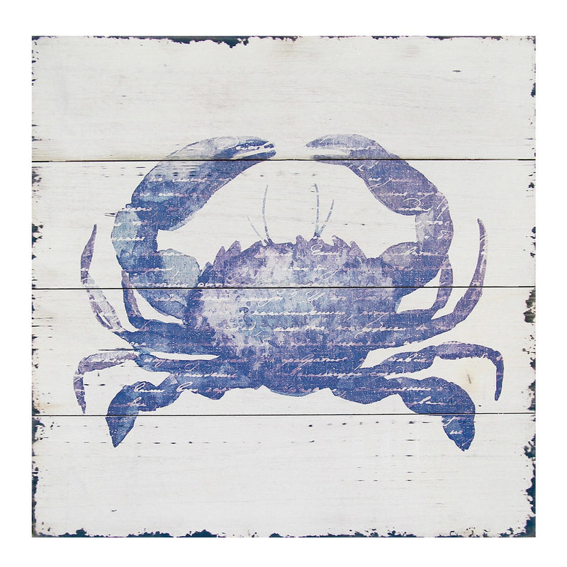 White and Blue Crab Wall Art by Stratton Home Decor