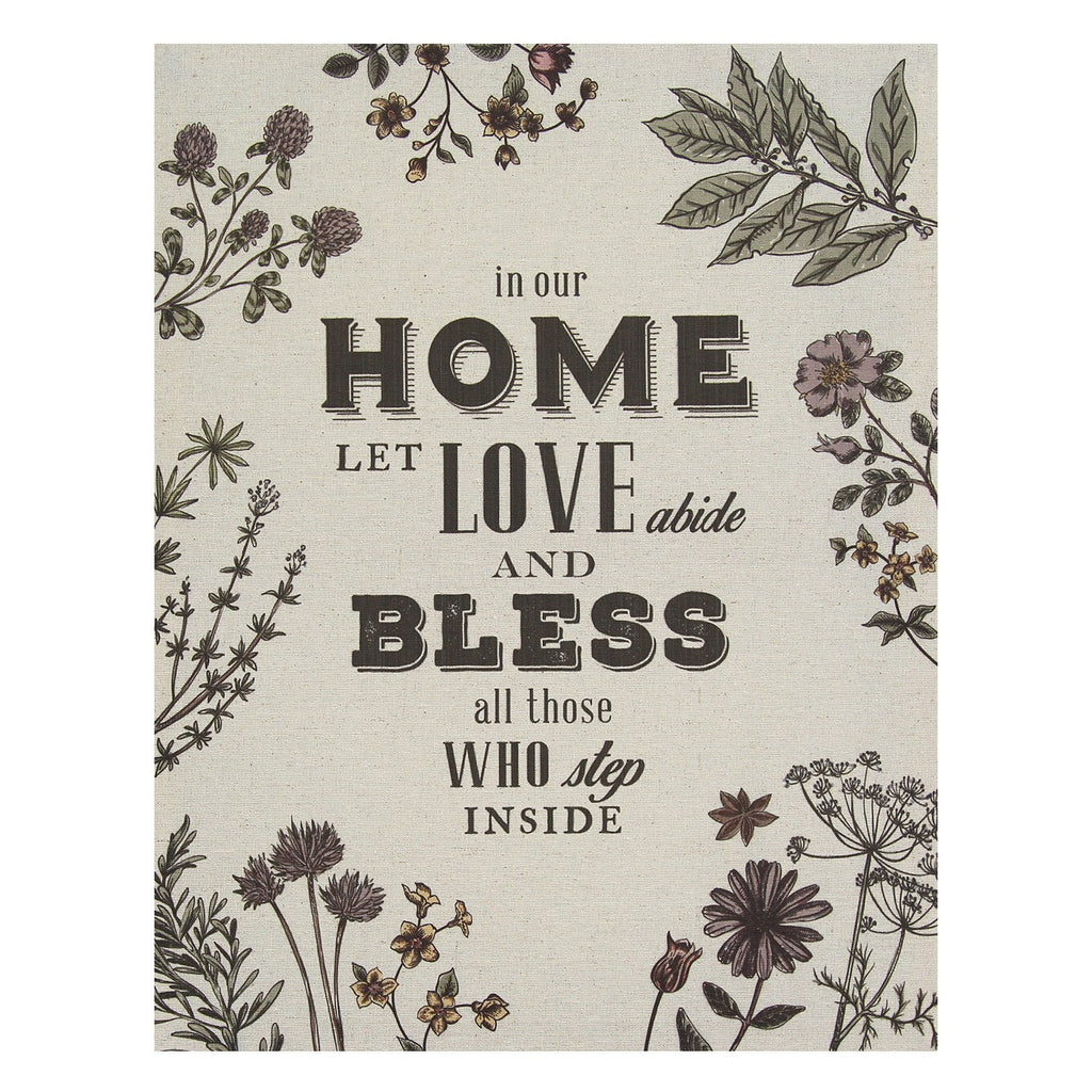 "Multi Color ""In our Home"" Linen Wall Art by Stratton Home Decor"