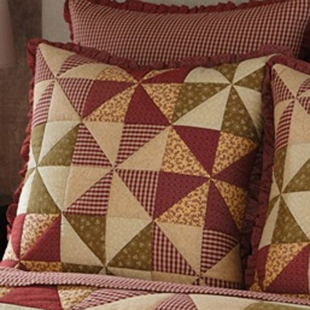 Mill Village Patchwork Euro Sham by Park Designs   upgrading quality.myshopify.com