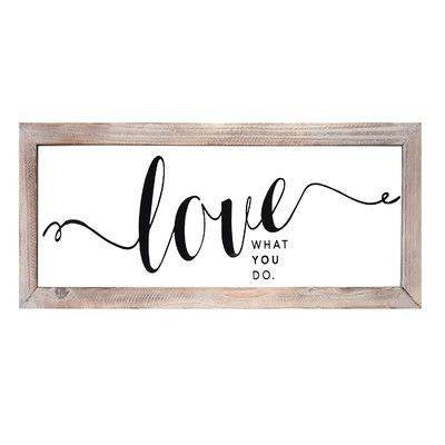 Black Love Wall Art by Stratton Home Decor