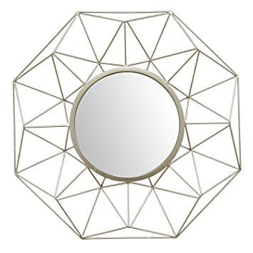 Silver Amber Mirror
