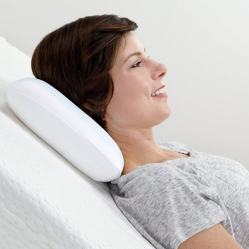 Reversible Gel and Memory Foam Travel Pillow
