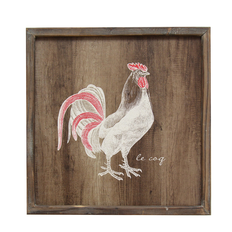 Stratton Home Multi Color Rooster Wall Art