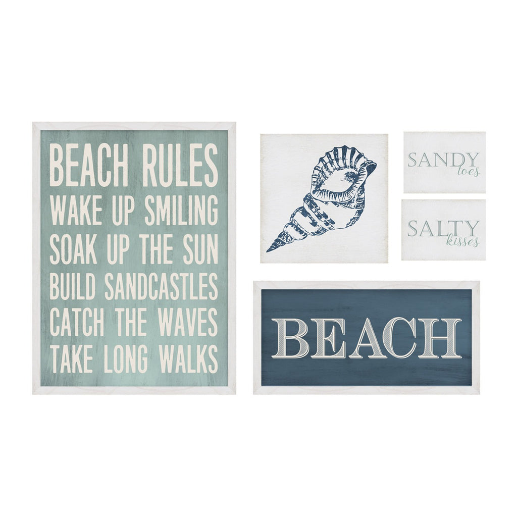 Multi Color Set of 5 Beach Wall Art by Stratton Home Decor