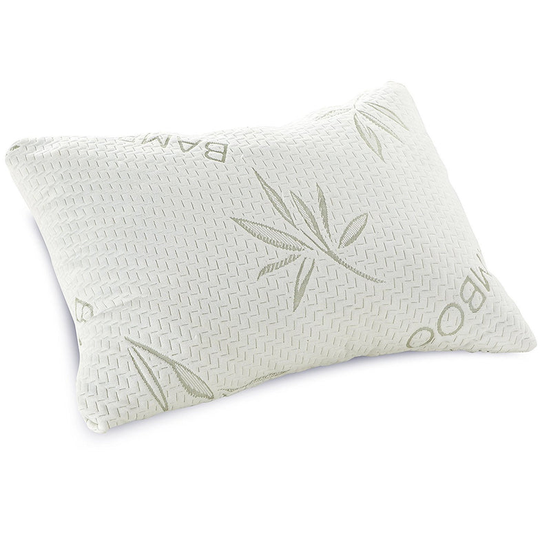 Shredded Memory Foam Pillow with Bamboo Rayon Cover by Classic Brands