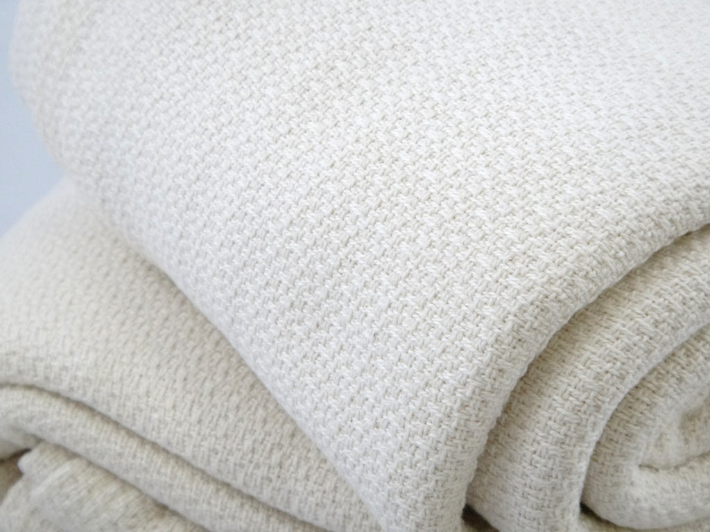 Organic Cotton Crepe Natural Blanket