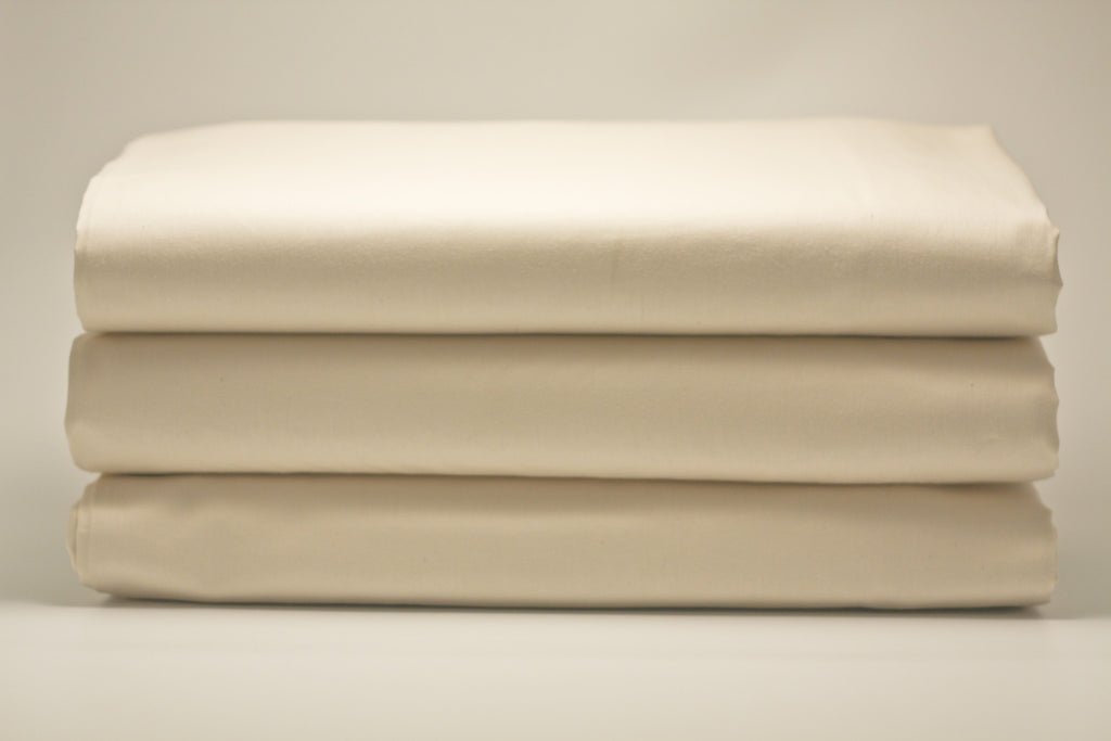 "3"" Organic Cotton Natural Sateen Fitted Sheet"