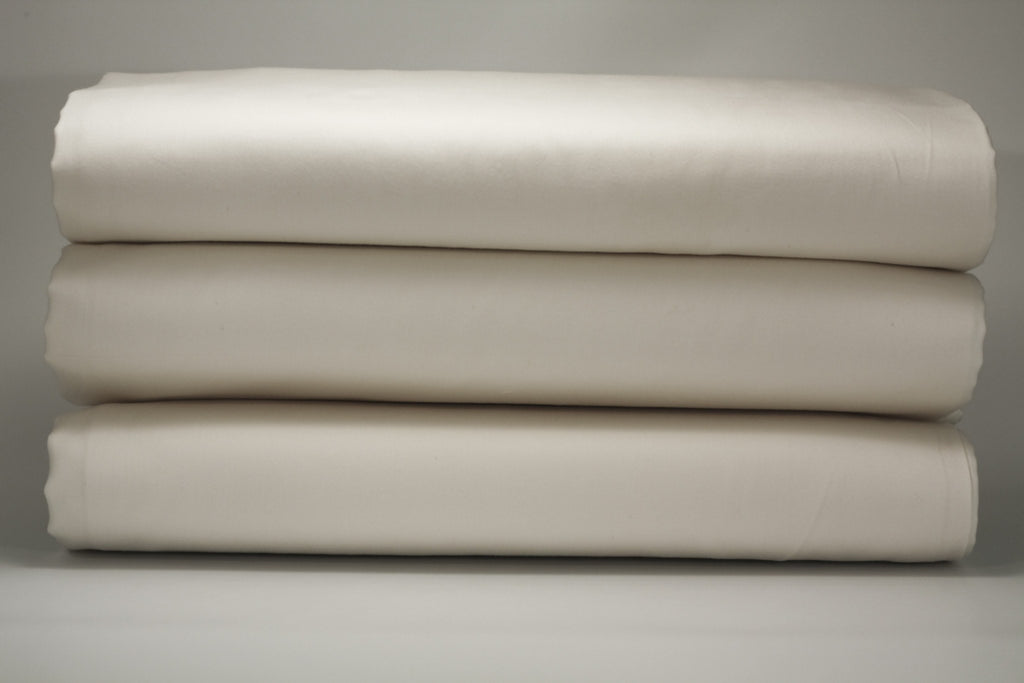 Sateen White Crib Fitted Sheet