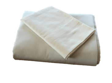 100% Organic Cotton Sateen Sheets in Natural