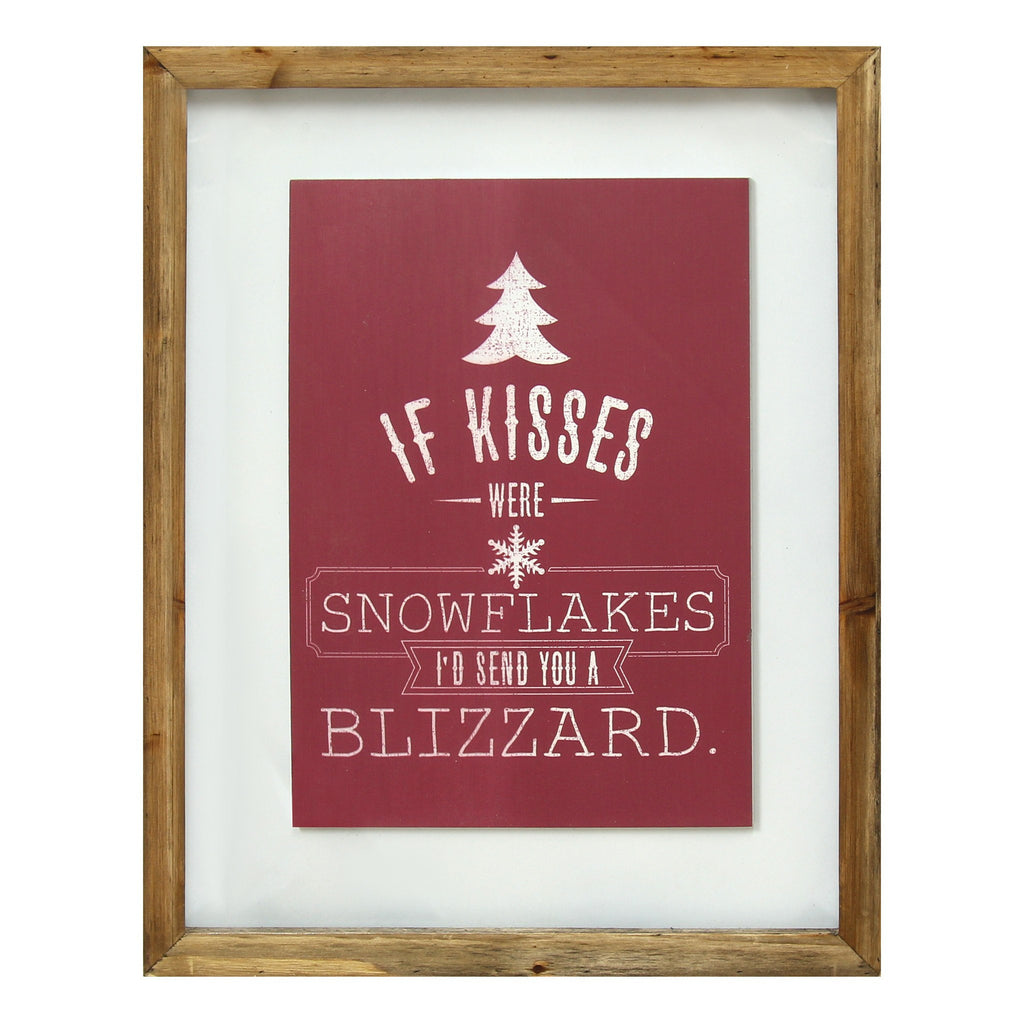 "Red  ""If kisses were snowflakes"" Wall Art Décor by Stratton Home Décor"