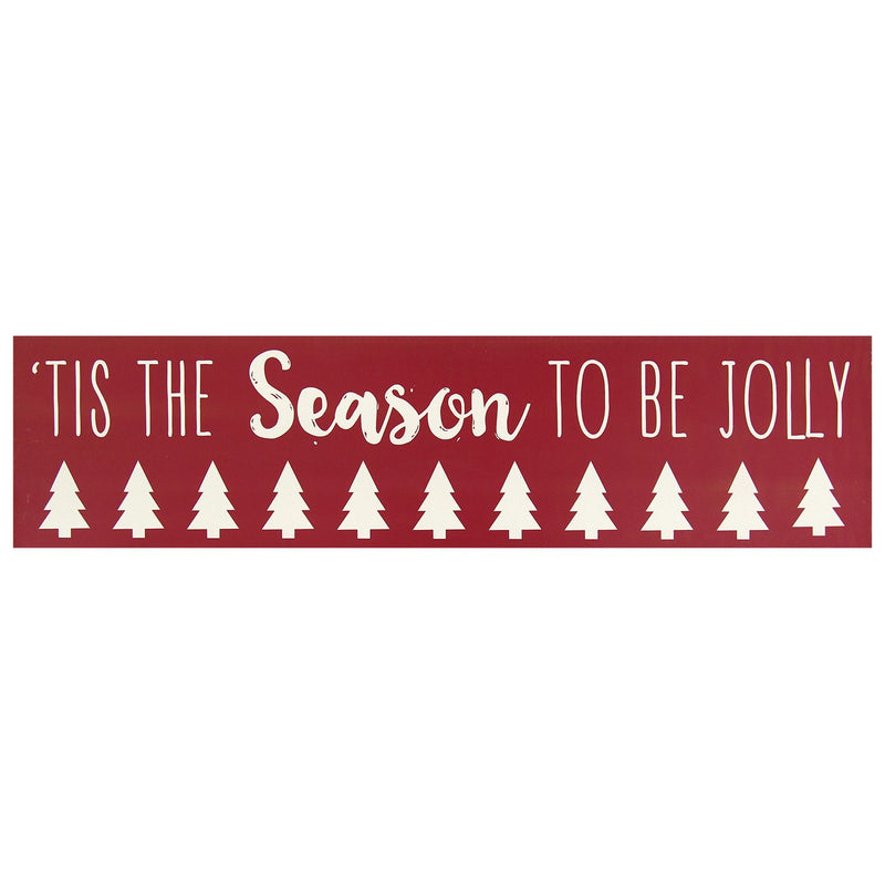 "Red ""Tis the season to be Jolly"" Wall Box Art by Stratton Home Décor"