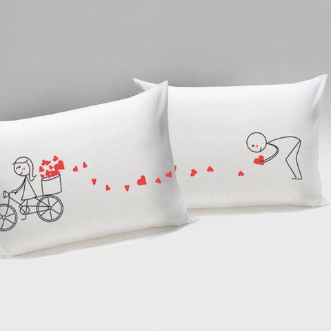 Hearts In Basket Couples Pillowcase   Upgrading Quality